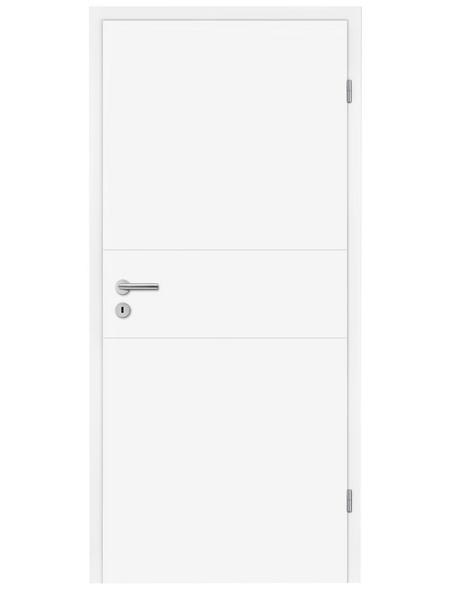 TÜRELEMENTE BORNE Tür »Turida 11 design-weiß«, Anschlag: rechts, Höhe: 198,5 cm