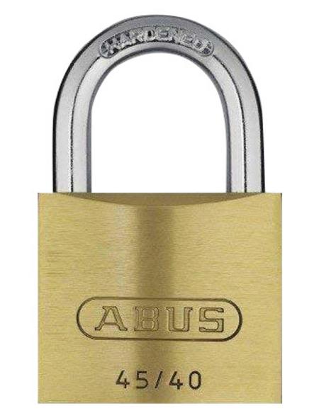 ABUS Tür-Zusatzschloss, aus Metall, 95 mm Breite, messingfarben