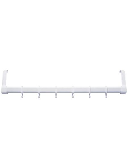 WENKO Türgarderobe, BxHxL: 57 x 11 x 4 cm, Kunststoff, weiß