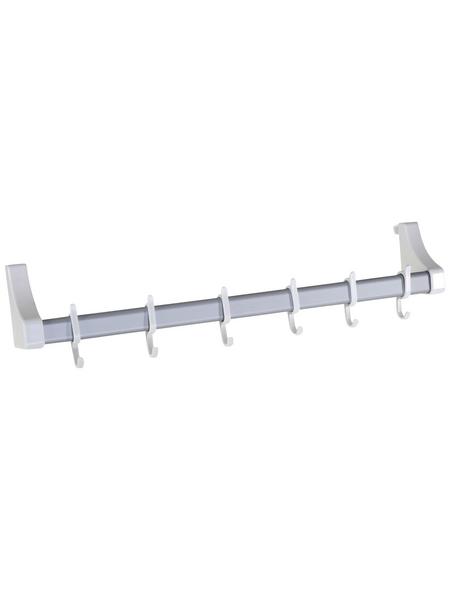 WENKO Türgarderobenschiene, BxHxL: 57 x 13 x 12 cm, Kunststoff, weiß