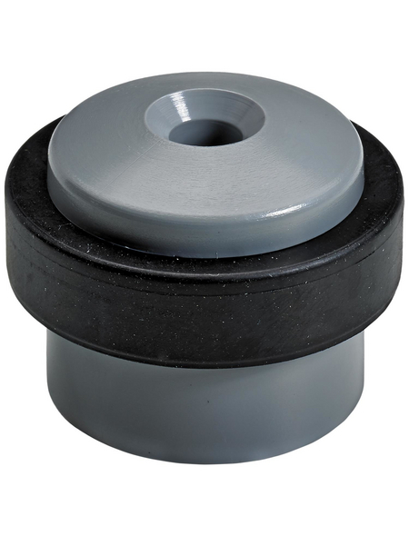 HETTICH Türstopper, Kunststoff, silbergrau/schwarz, Ø 35 x 30 mm, 2 St.