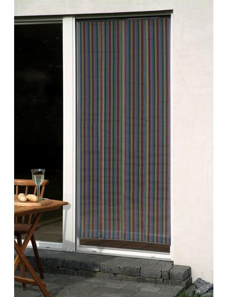 CONACORD Türvorhang, grau/bunt, Polyester