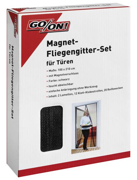GO/ON! Türvorhang »Magnet-Fliegengitter-Set«, BxH: 100 x 210 cm, schwarz
