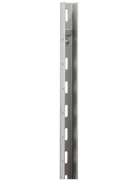BELLISSA U-Profil, Feuerverzinkt, 2 Stück, Stahl, silberfarben