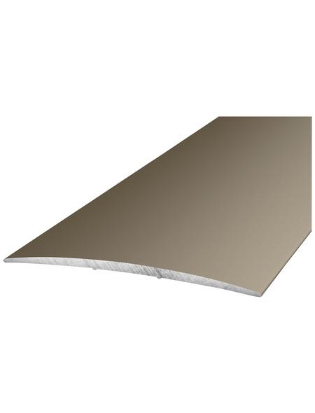 CARL PRINZ Übergangsprofil edelstahlfarben, BxLxH: 80 x 1000 x 5 mm