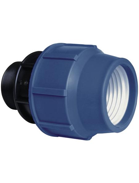"CORNAT Übergangsstück, Polyethylen (PE), 1"", blau/schwarz"