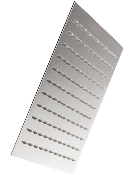 WELLWATER Überkopfbrause »Aera«, chromfarben, eckig, Höhe: 75 mm