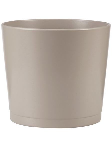 SCHEURICH Übertopf »BASIC«, Breite: 16,5 cm, taupe, Keramik