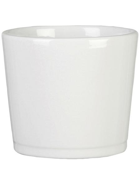 SCHEURICH Übertopf »BASIC«, Breite: 16,5 cm, weiß, Keramik