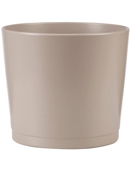 SCHEURICH Übertopf »BASIC«, Breite: 28 cm, taupe, Keramik