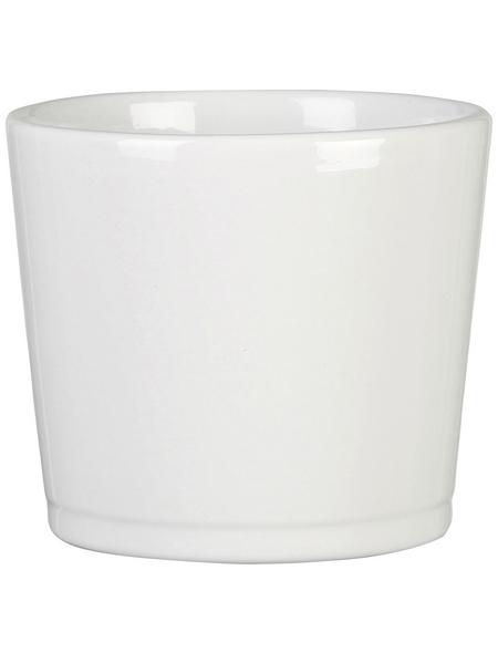 SCHEURICH Übertopf »BASIC«, ØxH: 28 x 24,3 cm, weiß