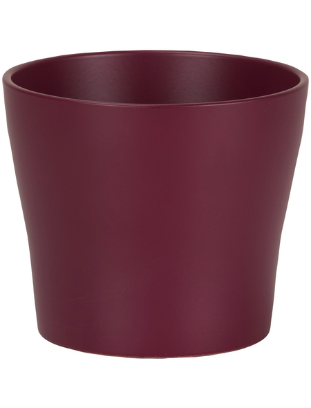 SCHEURICH Übertopf, Breite: 11 cm, bordeauxrot, Keramik