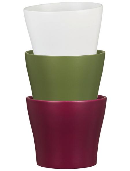 SCHEURICH Übertopf, Breite: 27 cm, weiß, Keramik