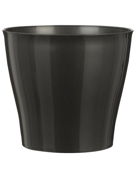 SCHEURICH Übertopf »BRIGHT«, Breite: 12,5 cm, grau, Kunststoff