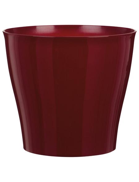 SCHEURICH Übertopf »BRIGHT«, Breite: 12,5 cm, rot, Kunststoff