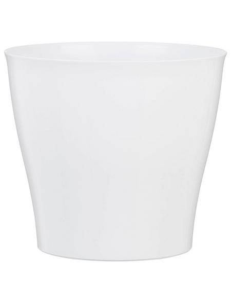 SCHEURICH Übertopf »BRIGHT«, Breite: 12,5 cm, weiß, Kunststoff