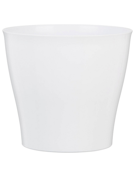 SCHEURICH Übertopf »BRIGHT«, Breite: 18,5 cm, weiß, Kunststoff
