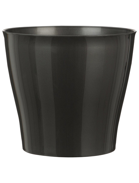 SCHEURICH Übertopf »BRIGHT«, Breite: 20,5 cm, grau, Kunststoff