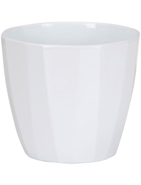 SCHEURICH Übertopf »ELEGANCE«, ØxH: 12 x 10,9 cm, weiß, Keramik