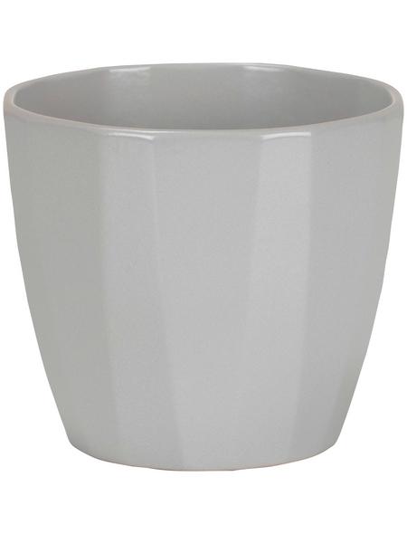 SCHEURICH Übertopf »ELEGANCE«, ØxH: 18,2 x 16 cm, grau, Keramik