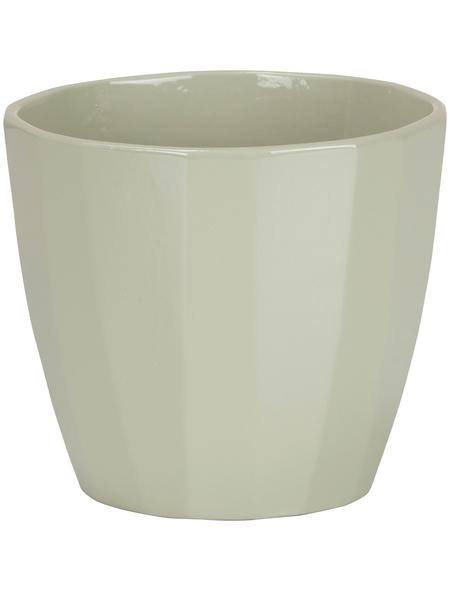 SCHEURICH Übertopf »ELEGANCE«, ØxH: 18,2 x 16 cm, grün, Keramik
