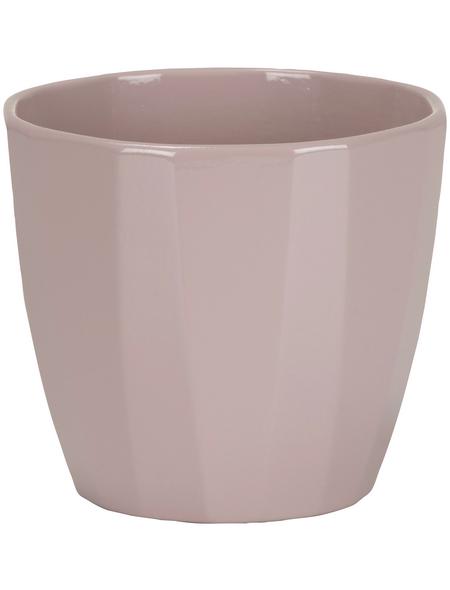 SCHEURICH Übertopf »ELEGANCE«, ØxH: 18,2 x 16 cm, rosé, Keramik