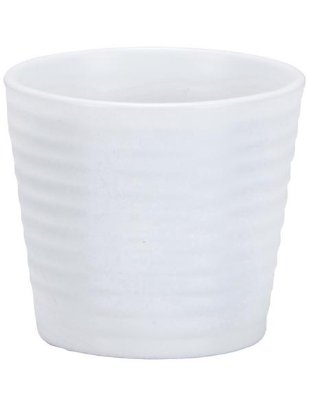 SCHEURICH Übertopf »EXPRESSIVE«, ØxH: 9 x 8 cm, weiß/grün/grau/beige, Keramik
