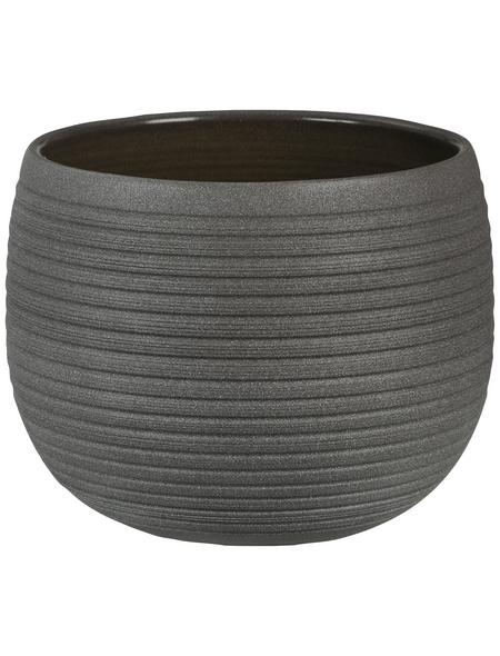 SCHEURICH Übertopf »LINARA«, ØxH: 16 x 12,4 cm, braun, Keramik