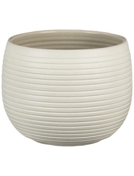SCHEURICH Übertopf »LINARA«, ØxH: 16 x 12,4 cm, creme, Keramik