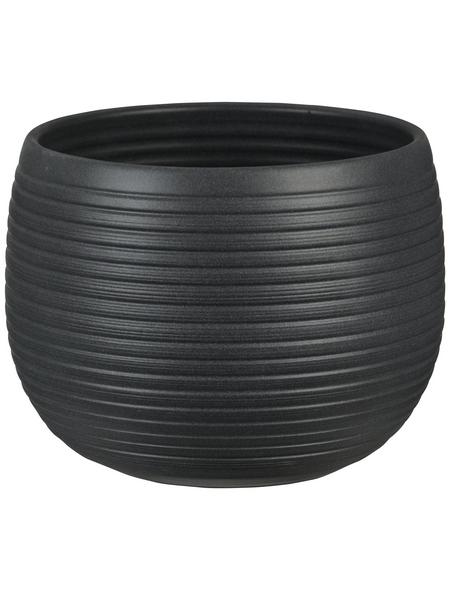 SCHEURICH Übertopf »LINARA«, ØxH: 16 x 12,4 cm, grau, Keramik