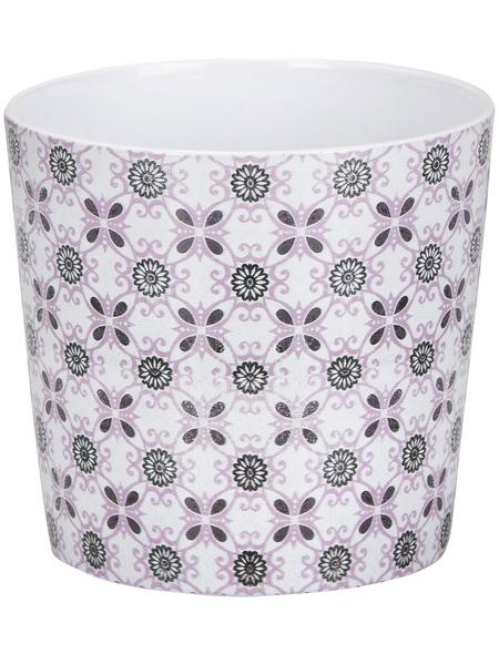 SCHEURICH Übertopf »MOSAIC«, ØxH: 12,8 x 11,8 cm, weiß/grau/rose, Keramik