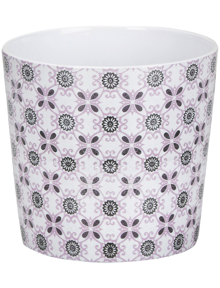 SCHEURICH Übertopf »MOSAIC«, ØxH: 15,1 x 13,5 cm, weiß/grau/rose, Keramik