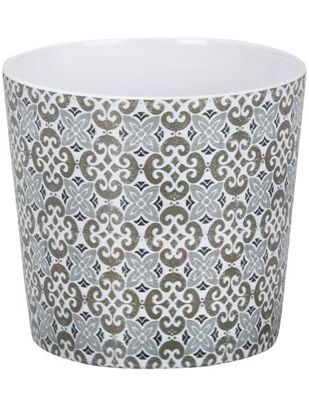 SCHEURICH Übertopf »MOSAIC«, ØxH: 15,1 x 13,5 cm, weiß/taupe/beige/blau, Keramik