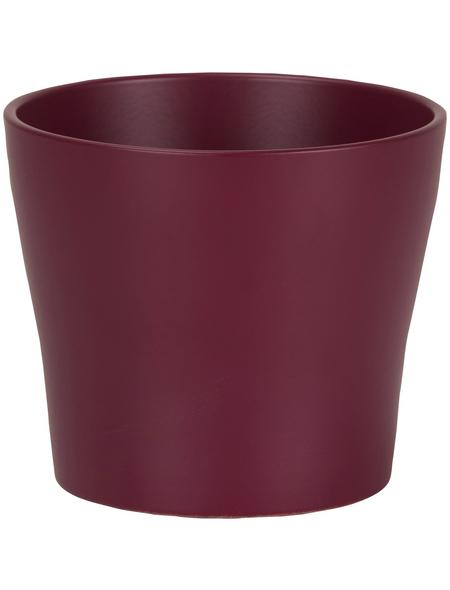 SCHEURICH Übertopf, ØxH: 11 x 9,3 cm, bordeauxrot, Keramik