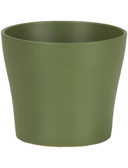 SCHEURICH Übertopf, ØxH: 11 x 9,3 cm, grün, Keramik