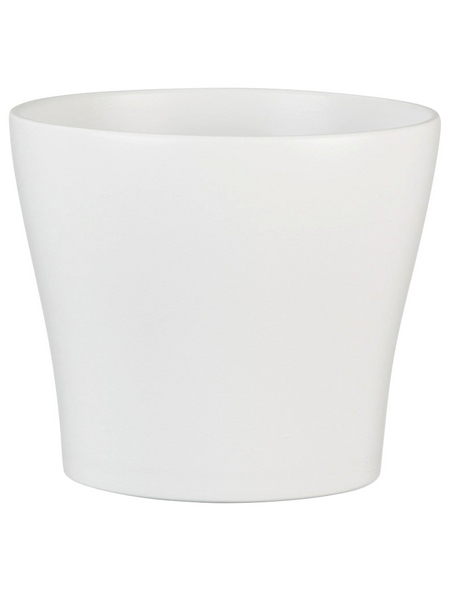 SCHEURICH Übertopf, ØxH: 11 x 9,3 cm, weiß, Keramik