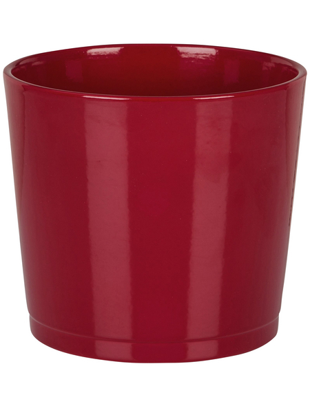 SCHEURICH Übertopf, ØxH: 12 x 10,5 cm, rot, Keramik