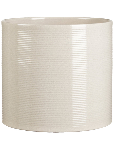 SCHEURICH Übertopf, ØxH: 12 x 11 cm, beige/taupe, Keramik