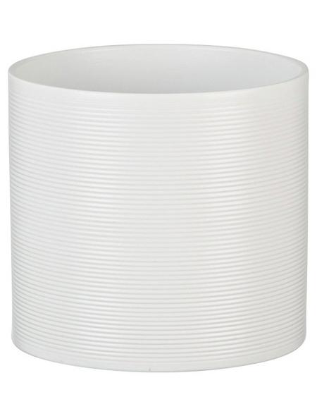 SCHEURICH Übertopf, ØxH: 12 x 11 cm, weiß, Keramik
