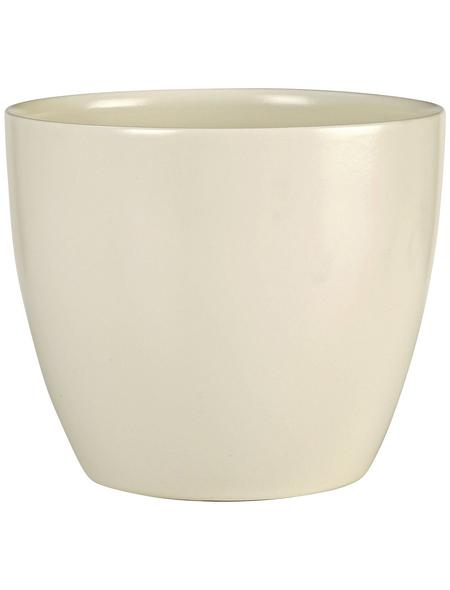 SCHEURICH Übertopf, ØxH: 13 x 11,5 cm, creme, Keramik