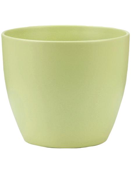 SCHEURICH Übertopf, ØxH: 13 x 11,5 cm, grün, Keramik