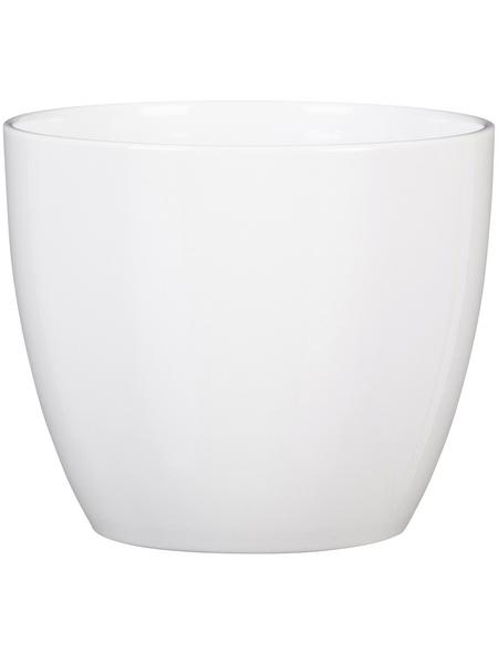 SCHEURICH Übertopf, ØxH: 13 x 11,5 cm, weiß, Keramik