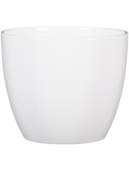 SCHEURICH Übertopf, ØxH: 14 x 12,1 cm, weiß, Keramik