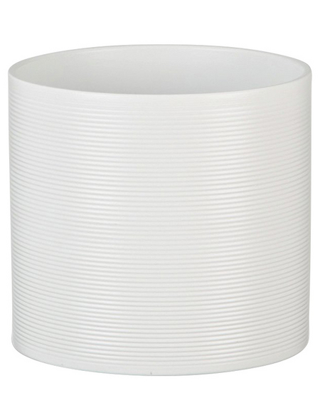 SCHEURICH Übertopf, ØxH: 14 x 13 cm, weiß, Keramik