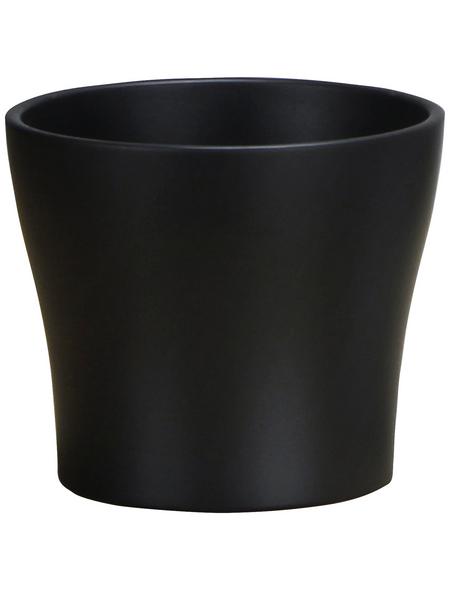 SCHEURICH Übertopf, ØxH: 15 x 12,8 cm, grau, Keramik
