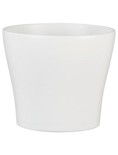 SCHEURICH Übertopf, ØxH: 15 x 12,8 cm, weiß, Keramik