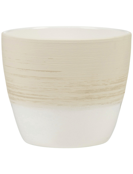 SCHEURICH Übertopf, ØxH: 16 x 15,2 cm, beige/creme, Keramik