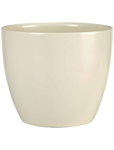 SCHEURICH Übertopf, ØxH: 19 x 17 cm, creme, Keramik