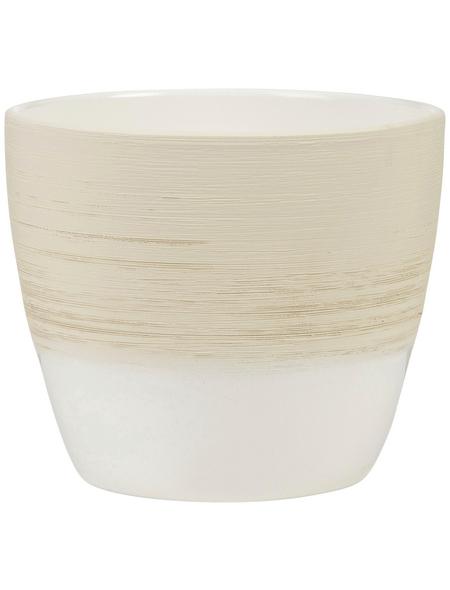 SCHEURICH Übertopf, ØxH: 19 x 17,5 cm, beige/creme, Keramik
