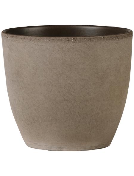 SCHEURICH Übertopf, ØxH: 22 x 19,5 cm, braun, Keramik